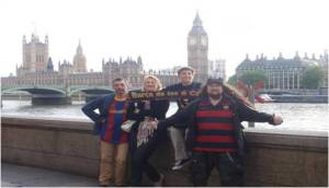 La peña por Londres