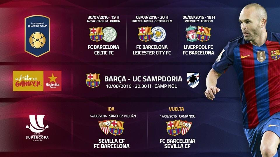 Pretemporada Barça 2016